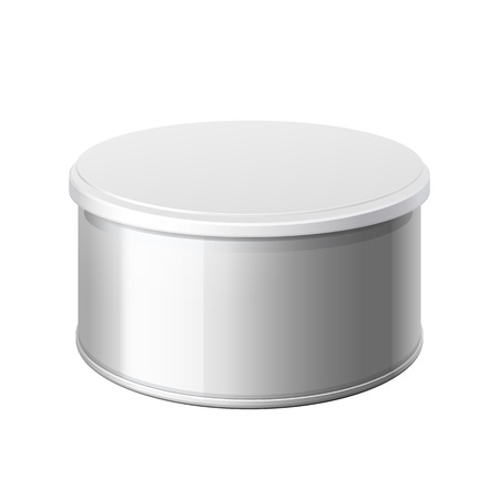 salt pepper: metal can with a lid. Packing for coffee or loose products. Bank for sugar, salt, pepper and spices. Template For Mock up Your Design. vector illustration.