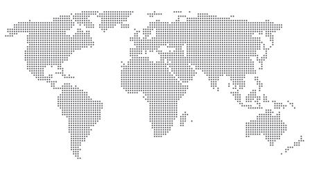 Dotted world map. Vector illustration. Ilustracje wektorowe