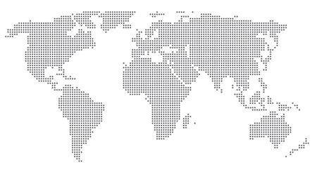 worldmap: Dotted world map. Vector illustration. Illustration