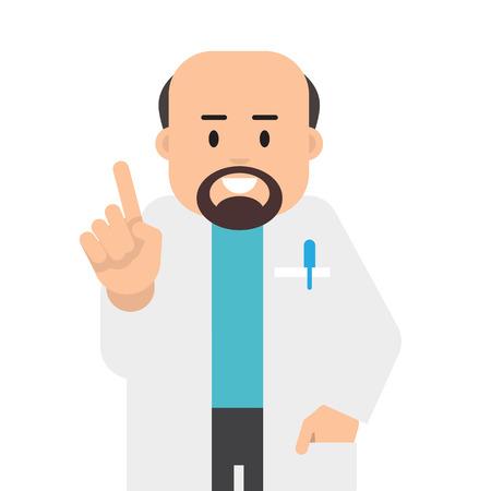 Character doctor. Doctor health care. Vector illustration. Flat Design Illustration