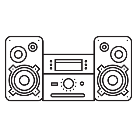 surround system: Sound System icon. Music Center Vector illustration on white background. Flat Vector icon