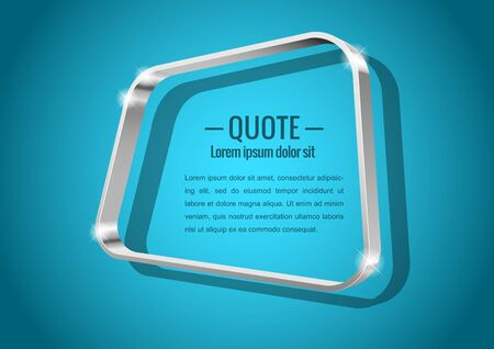 shiny metal: Shiny glossy of metal 3d banner. Abstract form, for messages or quotes. Vector illustration