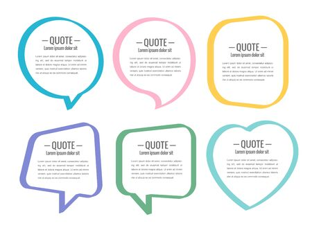 communication: Stickers of speech bubbles vector set
