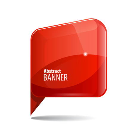 shiny: Shiny gloss red 3d banner