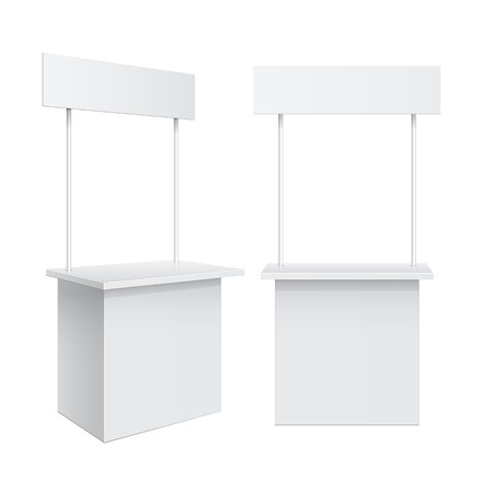 Promotion counter, Retail Trade Stand Illustration