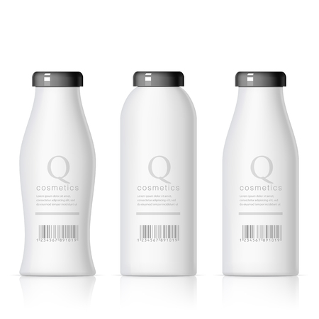 template: Set of Realistic cosmetic bottle