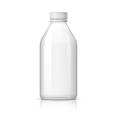 Realistic plastic bottle for water or milk and other liquids design Illustration