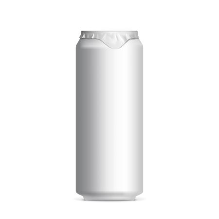ml: Light aluminum cans for beer and soft drinks or energy. Packaging 500 ml. Vector illustration