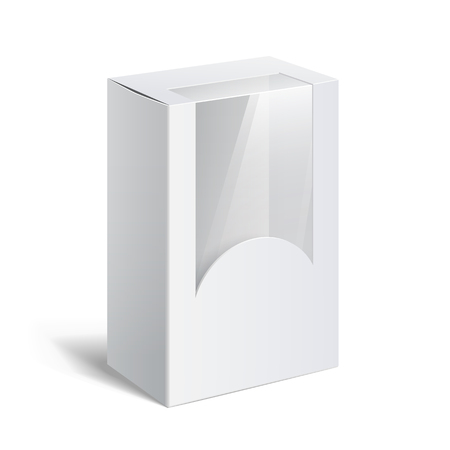 empty: Realistic White Package Box.