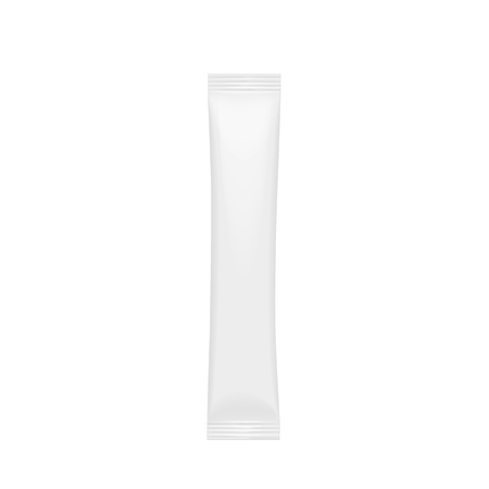 Realistic White Blank template Packaging Stick Ilustração