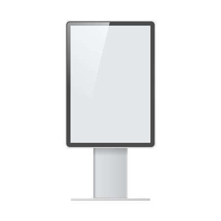 Realistic light box template on white background Illustration