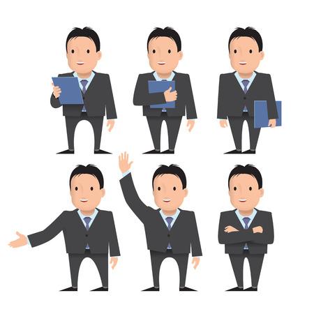 A businessman, a teacher, a man with a beard and a tie. Illustration
