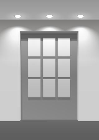 Door panel vector illustration