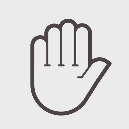 Hand shake gesture. Symbol stop, clean hands, attention Vector illustration