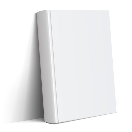 Realistic white Blank book cover 일러스트