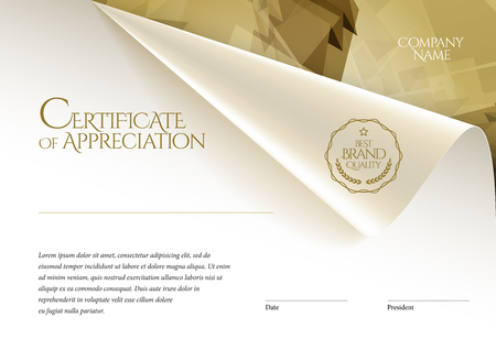 Certificate, template diploma currency border. Award background Gift voucher. Vector illustration.