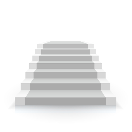 White staircase vector illustration