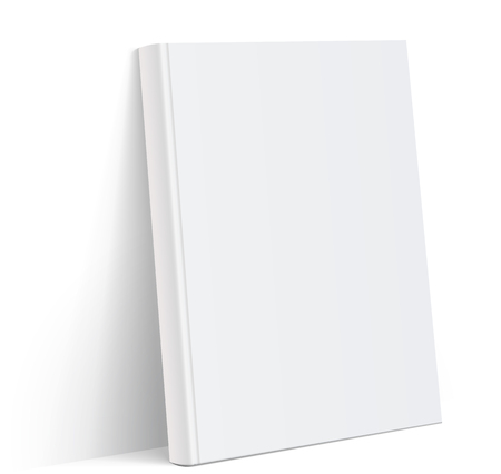Realistic white Blank book cover vector illustration 일러스트
