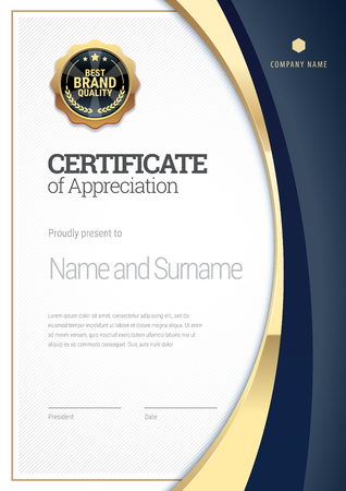 Certificate template. Diploma of modern design