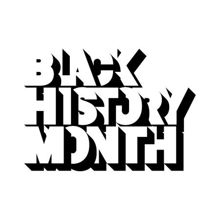 Black History Month Logo design. Vector illustration. Иллюстрация
