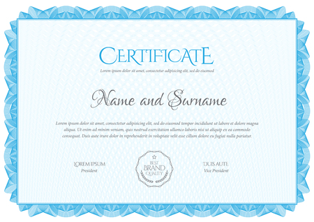Modèle de certificat. Diplôme de design moderne ou chèque-cadeau. Vecteurs