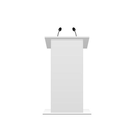 Tribune podium rostrum speech stand. Vector illustration Vetores