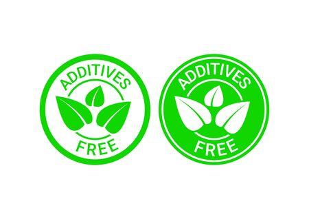 Signo libre de aditivos o símbolo de sello. Ilustración vectorial