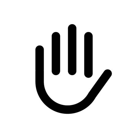 Hand shake gesture. Symbol stop, clean hands, attention. Vector illustration Reklamní fotografie - 132085165