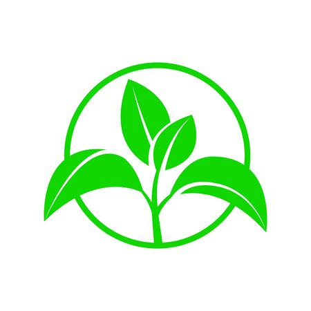 Symbol of an environmentally friendly or rapidly degradable product that does not harm the environment. Vector illustration