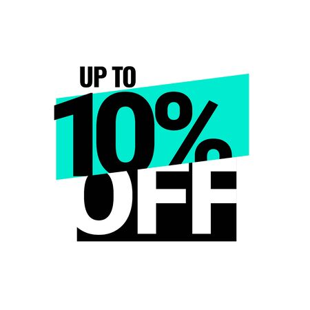 Discount with the price is 10. Vector illustration