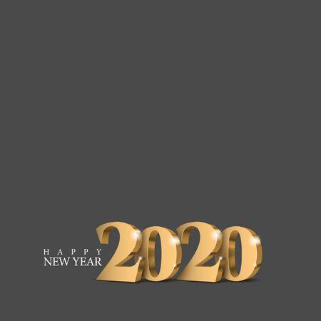 Vector text Design 2020.