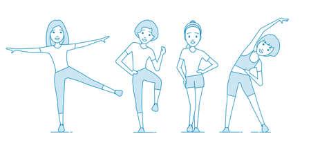 Aerobics. Train create a beautiful figure.