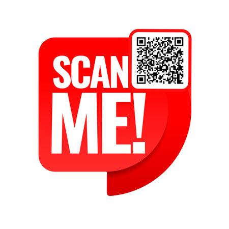 Scan me icon. Symbol or emblem. vector illustration