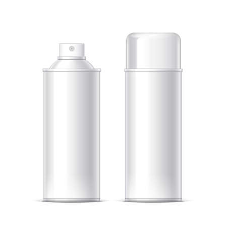 Realistic White Cosmetics bottle can Spray