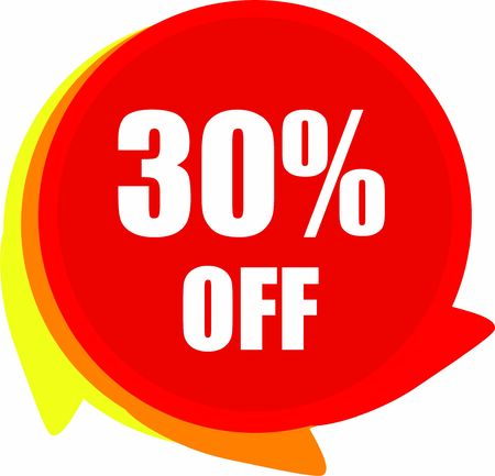 30 Percent  Off  Discount offer price label Graphics 向量圖像