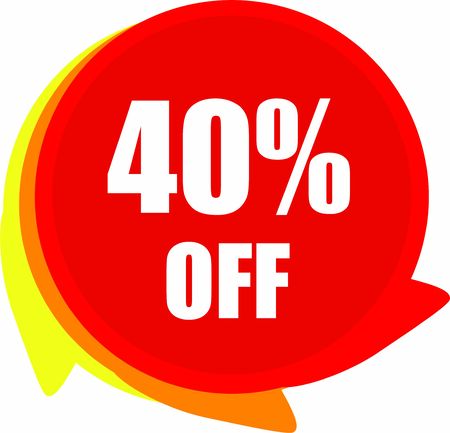 40 Percent Off Discount offer price label Graphics