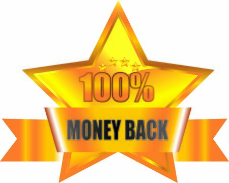 100 Percentage Money back Guaranteed banner flag Vector Graphics 向量圖像