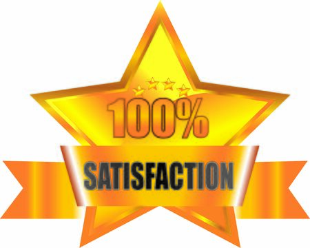 100 Percentage Satisfaction banner flag Vector Graphics