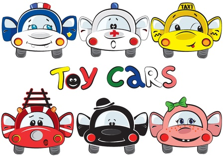 Toy cars Vector