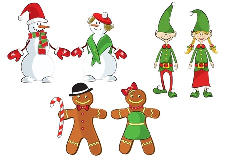 X-mas characters Stock Vector - 11343480