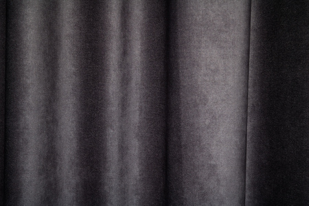 Dark fabric textile curtain texture