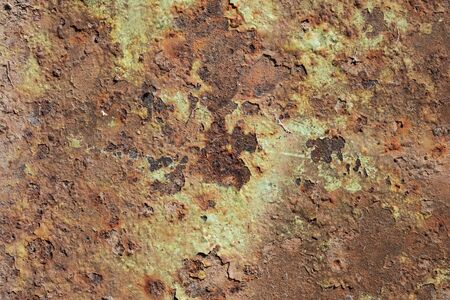 Old rusty aged green grunge metal surface high quality texture background Stock Photo