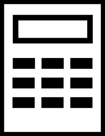 Calculator icon vector. Savings, finances sign isolated on white, economy concept, Trendy Flat style for graphic design, Web site, UI. EPS10