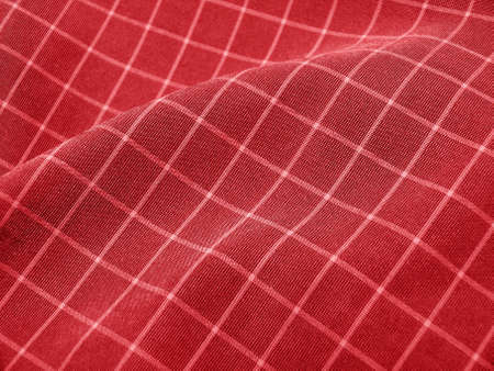 Pleated checkered deep red fabric. Good for Christmas background. Stock Photo - 1717740