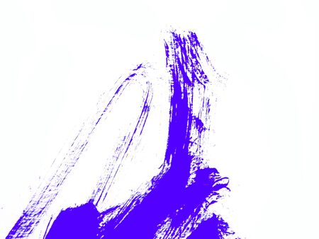 Abstract close up of purple watercolor hand painting on paper white background Stockfoto