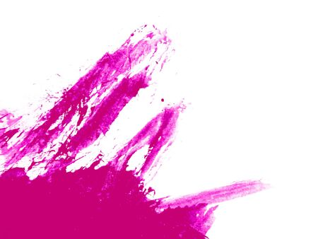 Abstract close up of pink watercolor hand painting on paper white background