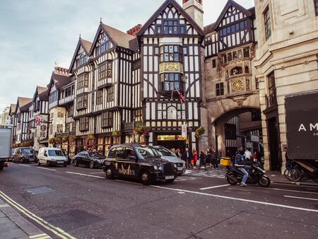 London, England - September 28 2015: La Libert? / Liberty Department store, building Neo Tudor, at Regent Street - Soho, Westminster