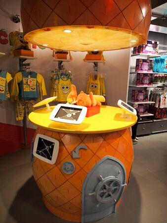 London, England - September 29 2015: Nickelodeon store Editorial