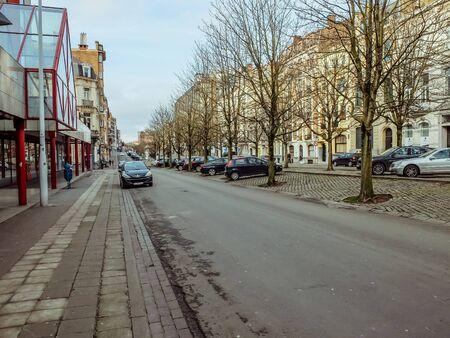 Charleroi, Belgique - 28 décembre 2019 : Rue du Boulevard Audent à Charleroi, Wallonie