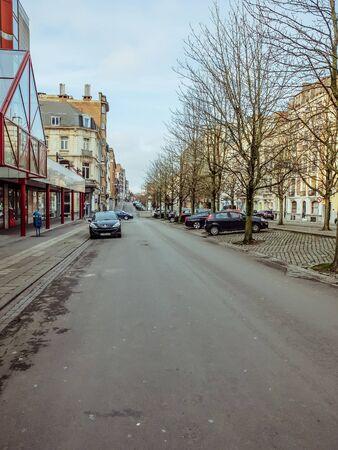 Charleroi, Belgique - 28 décembre 2019 : Rue du Boulevard Audent à Charleroi, Wallonie Éditoriale